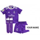 Official authentic Real Madrid Third Mini Kit Your Name 15/16 away