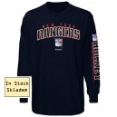 New York Rangers Youth T-Shirt Reebok, Long Sleeve, In Stock